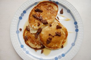 Vosges Bacon Chocolate Chip Pancakes