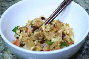 MOM'S FAMOUS KIMCHI AND BACON FRIED RICE